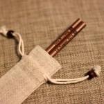 Engraved-Chopsticks-Natural-Wooden-Chopsticks(Dark-Brown)_with_Linen-pouch_1