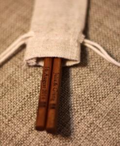Engraved-Chopsticks-Natural-Wooden-Chopsticks(Dark-Brown)_with_Linen-pouch_2