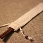 Engraved-Chopsticks-Natural-Wooden-Chopsticks(Dark-Brown)_with_Linen-pouch_3
