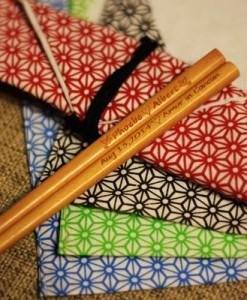 Engraved Chopsticks - Natural Wooden(Light brown) Chopsticks_3