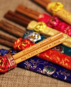 Engraved Chopsticks - Natural Wooden(Light brown) Chopsticks_4