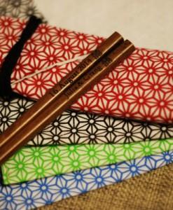 Engraved Chopsticks - Natural Wooden(dark brown) Chopsticks_3