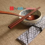 Engraved Personalized Natural Wooden Chopsticks & Spoon Set with Cotton Pouch_5