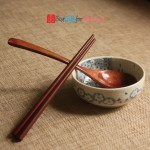 Engraved Personalized Natural Wooden Chopsticks & Spoon Set with Cotton Pouch_6