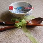 Engraved Wooden Chopsticks & Spoon Set_1