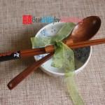 Engraved Wooden Chopsticks & Spoon Set_2