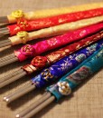 Engraved-Korean-Stainless-Steel-Chopsticks-with-Silk-Pouch_3