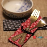 Personalized Engraved Stainless Steel Fork and Spoon Set with Cotton Bag
