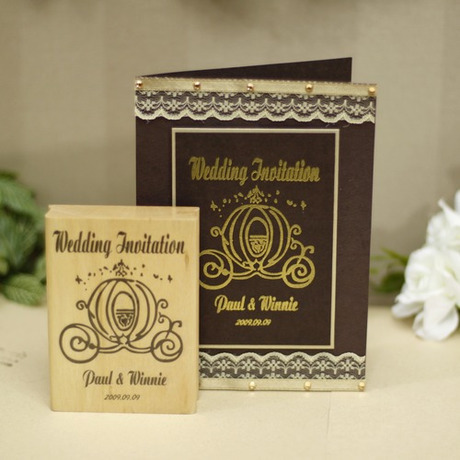 custom rubber stamp for wedding invitation pumpkin coach diy
