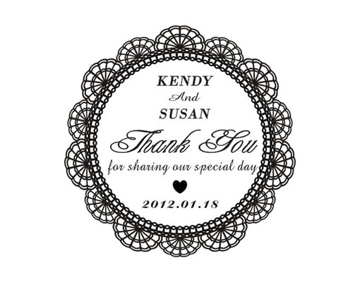 Personalized Rubber Stamps For Wedding Invitations: Personalized Rubber Stamp For Wedding Tag [Thank You Tag