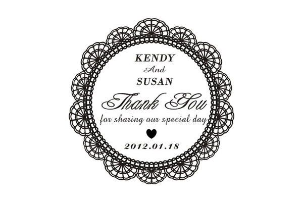 No Thank You For Wedding Gift: Personalized Rubber Stamp For Wedding Tag [Thank You Tag