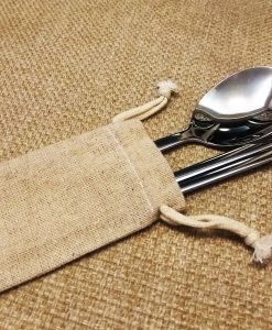 personalized-stainless-steel-chposticks-&-spoon-with-linen-bag