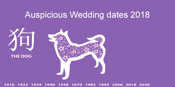 Auspicious Wedding dates 2018